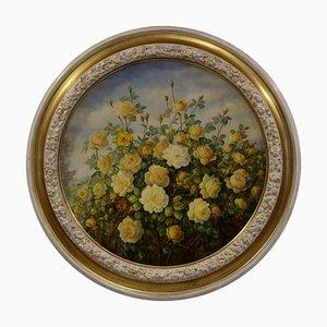 Giovanni Bonetti, Rose Gialle, Oil on Canvas