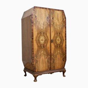 Art Deco Oak Linen Press Cabinet or Tallboy, 1930s