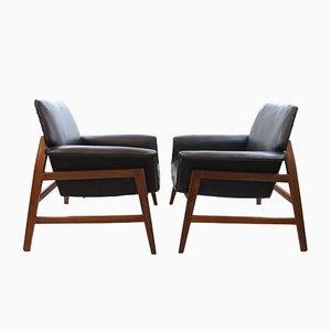 Dänische Armlehnstühle im Stil von Gianfranco Frattini, 2er Set