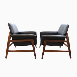 Danish Armchairs in the Style of Gianfranco Frattini, Set of 2