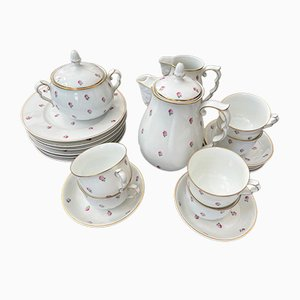 Porcelain 6-Person Coffee Service from Augarten, Set of 24