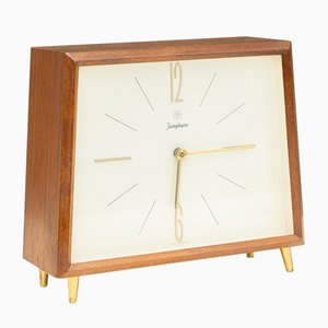 Table Clock in Teak from Junghans, Germany, 1950s