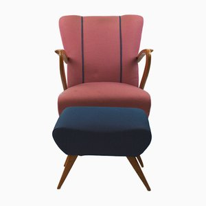 Armchair with Ottoman by Paolo Buffa, 1950s