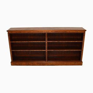 Antique Victorian Burr Walnut Double Open Bookcase
