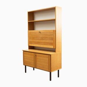 Mueble de almacenamiento o secreter de roble claro, años 60