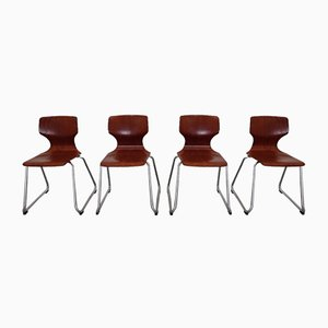 Chairs from Pagholz Flötotto, Germany, 1970s, Set of 4