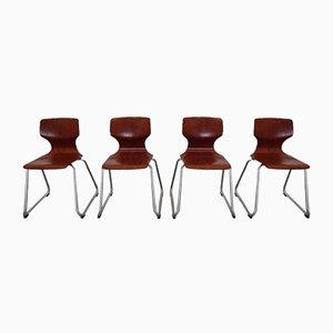 Stühle von Pagholz Flötotto, Deutschland, 1970er, 4er Set