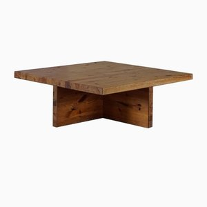 Swedish Modern Solid Pine Coffee Table by Sven Larsson, 1960s