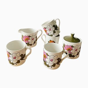 Vintage Camilla Tea and Coffee Set from Myott, 1960s, Set of 6