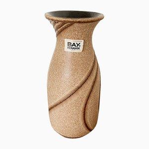 Jarrón 710-20 alemán vintage de cerámica texturizada de Bodo Mans para Bay, años 70