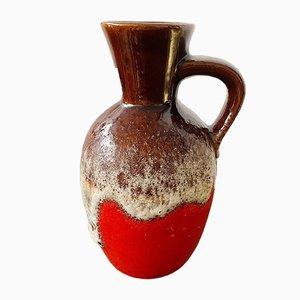 Vintage German Ceramic Lava Vase from Bay, 1970s