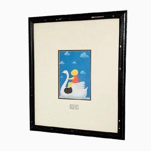 Mackenzie Thorpe, Boy on a Swan Print for Kids Room