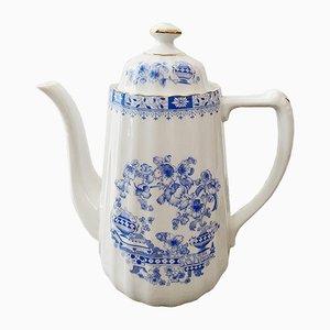 Vintage Porcelain China Blue Tea Pot from Seltmann Weiden Bavaria, 1970s