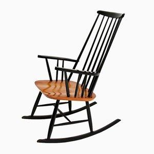 Vintage Ebonised Elm Rocking Chair, 1960s