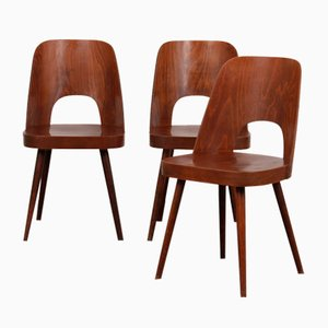 Vintage Chairs by Oswald Haerdtl for TON, 1960s, Set of 3