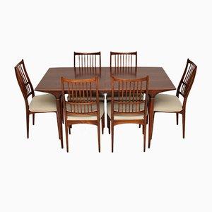 Mesa de comedor sueca vintage con sillas de Svante Skogh para Seffle Möbelfabrik. Juego de 7