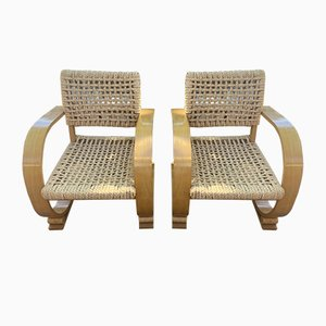 Armchairs by Adrien Audoux and Frida Minet, 1960s, Set of 2