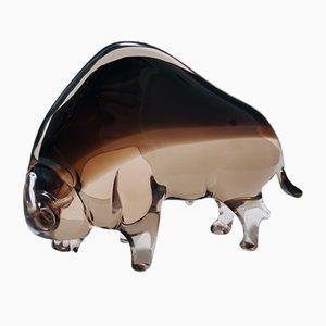Mid-Century Murano Glass American Buffalo Attributed to Seguso, Italy