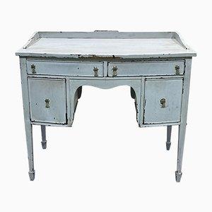 English Mahogany Desk with Gray Patina
