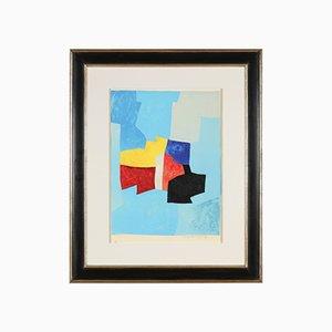 Serge Poliakoff, Composition Bleu, Jaune et Rouge, 1965, Lithographie Couleur