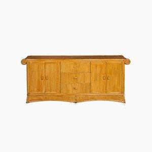 Französisches Sideboard aus Bambus & Rattan, 1970er