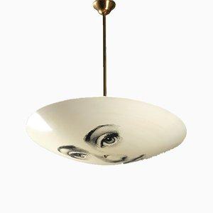 Lampada da soffitto con volto di donna di Atelier Fornasetti per Piero Fornasetti, anni '60