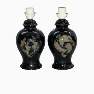 Lampes de Bureau en Céramique par Kent Ericsson et Carl-Harry Stalhane pour Designhuset, Set de 2