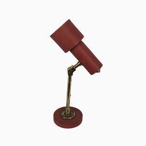 Rote Vintage Messing Tischlampe von Stilnovo, 1950er