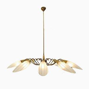 Lámpara de araña Mid-Century con 10 luces, Italia
