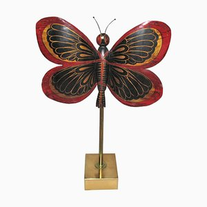 Large Dinanderie Butterfly, Early 20th Century
