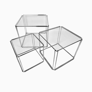 Isocèle Nesting Tables by Max Sauze for Atrow, France, Set of 3