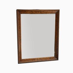 19th Century French Burr Walnut Wall Mirror