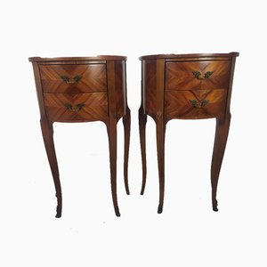 Louis Style Bedside Tables, Set of 2