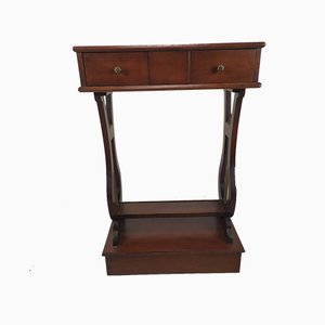 English Side Table with Drawers