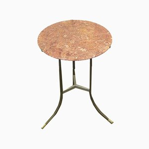 Bronze and Marble Side Table by Cedric Hartman, USA, 1970s