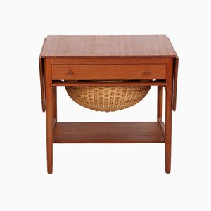 AT33 Sewing Table by Hans J. Wegner for Andreas Tuck, Denmark