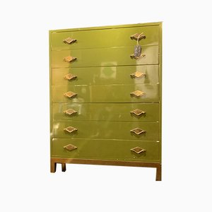 Lacquered Secretaire or Chest of Drawers Attributed to Guy Lefevre / Maison Jansen, 1970s