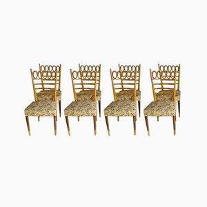 Sedie da pranzo di Osvaldo Borsani per Atelier Borsani Varedo, anni '40, set di 8