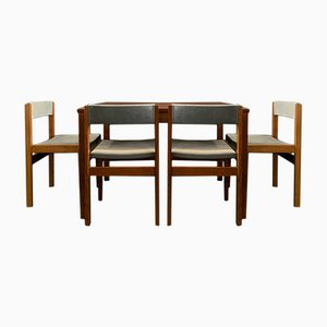 Mid-Century Rosewood Table and 4 Chairs, Set of 5