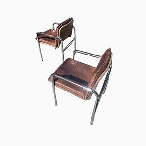 Mid-Century Chrome Chairs by Pfalzberger, Set of 2