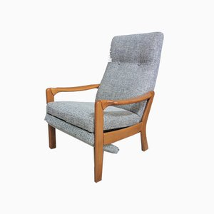 Gray Recliner Chair, 1960s