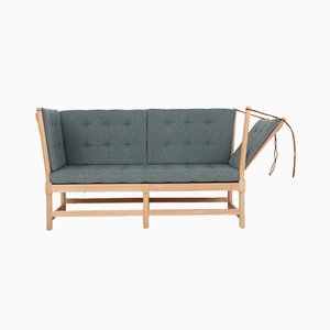 Model 1789 Beech and Wool Couch by Børge Mogensen for Fritz Hansen