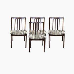 Stühle aus Teak, 1970er, 4er Set