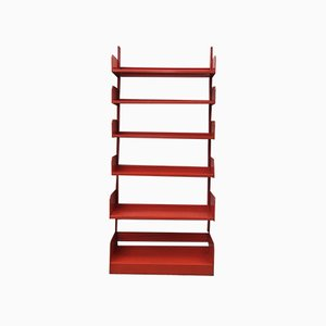 Orange Congresso Bookcase by Lips Vago, 1968