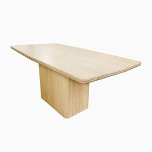 Travertine Dining Table, 1980s