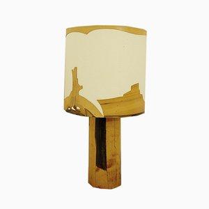 Lampe de Bureau en Cuir