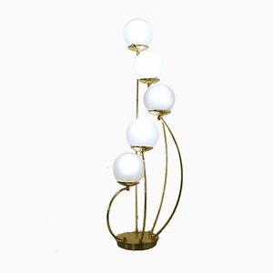 5-Glass Globe Table Lamp