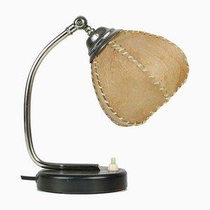 Lámpara de mesa vintage de pergamino