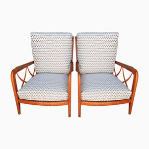Kirschholz Stühle von Paolo Buffa, 2er Set