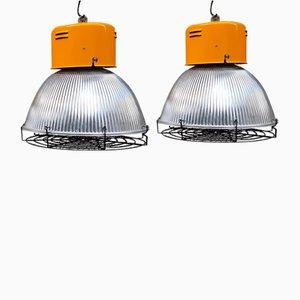 Industrielle 1100 Lampen von Disano, Italien, 1980er, 2er Set